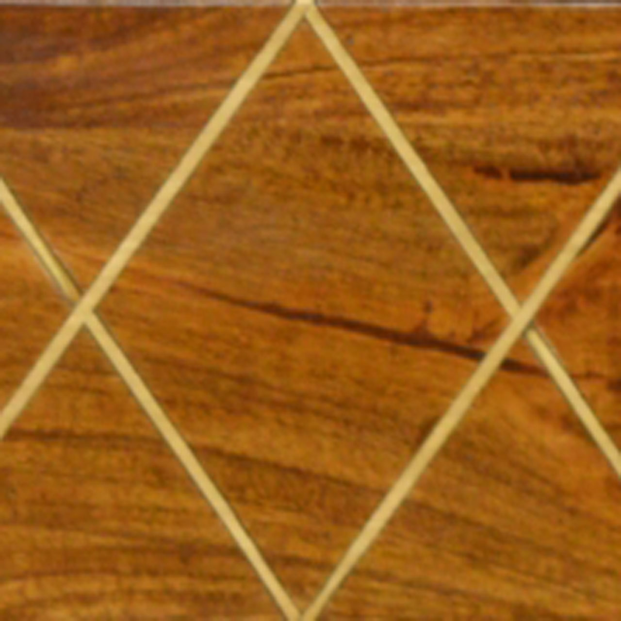 CRISS CROSS BRASS INLAY PATTERN