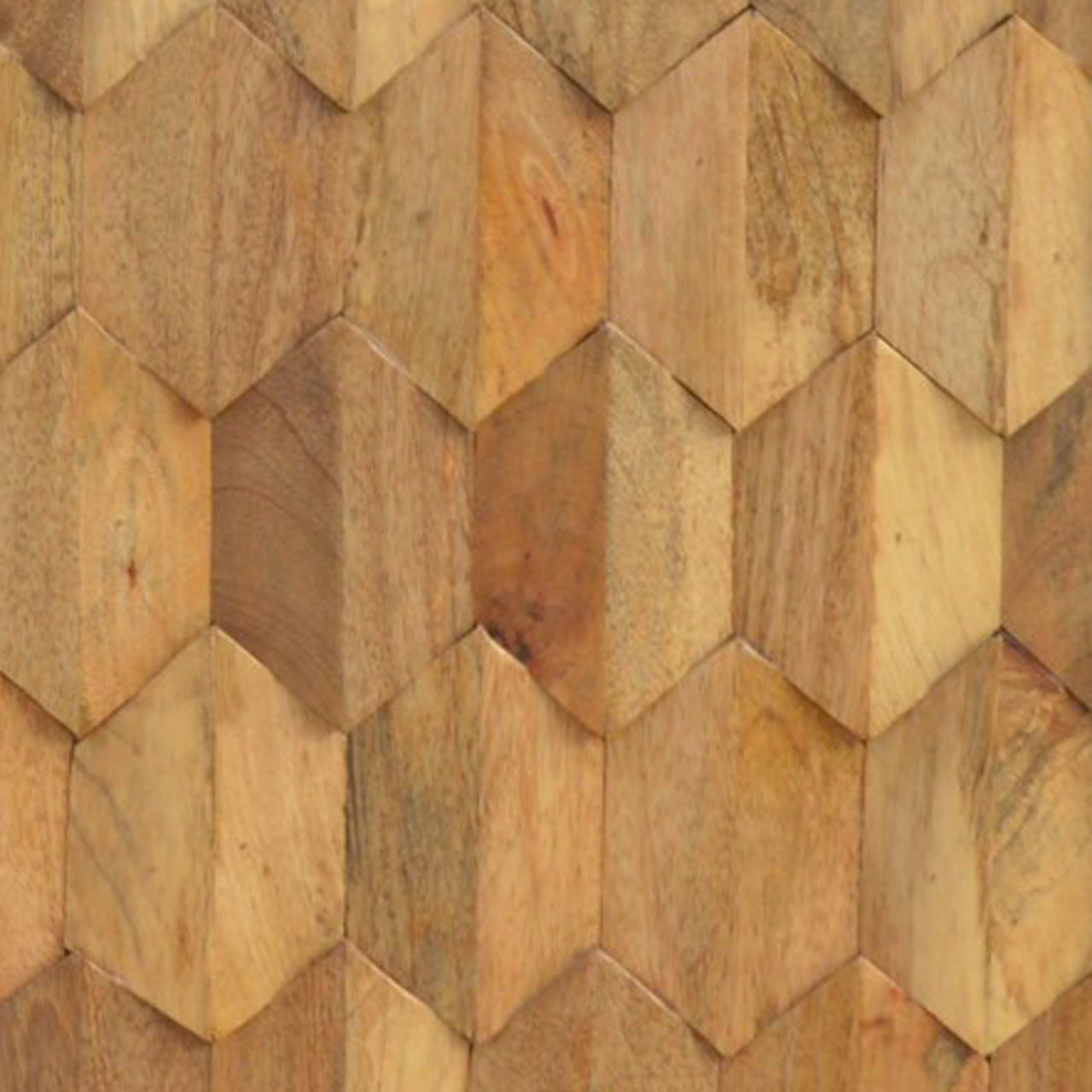 PINEAPPLE PATTERN WOOD INLAY