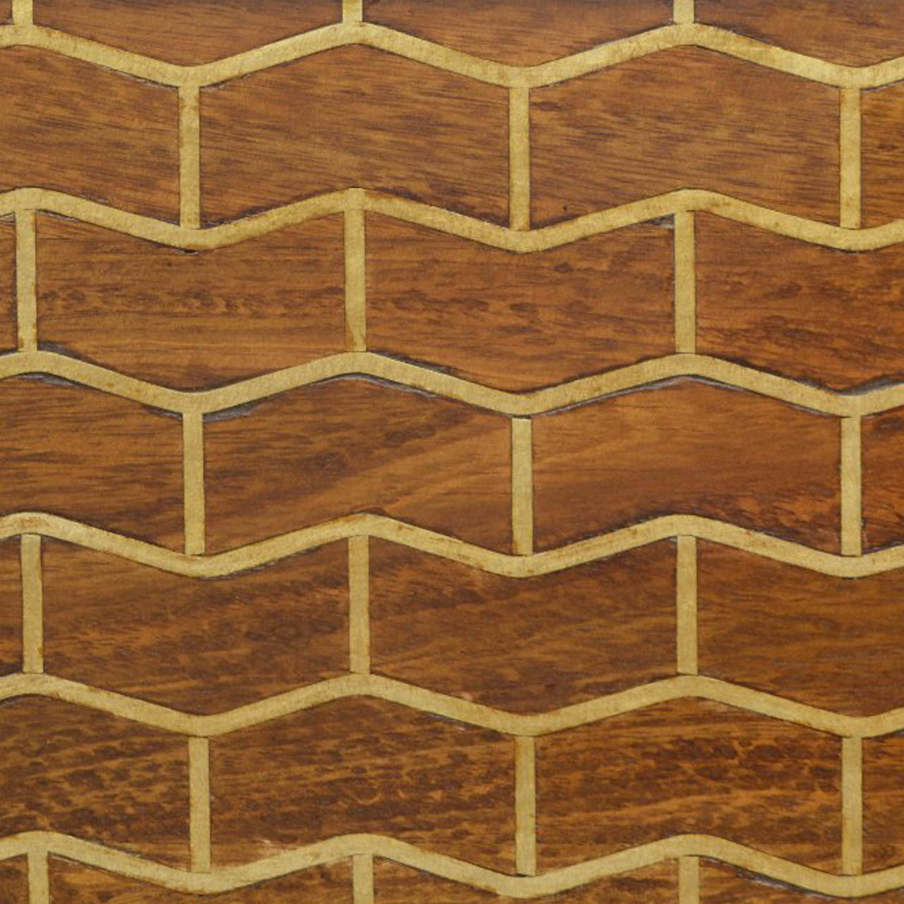 ZIG-ZAG PATTERN BRASS INLAY